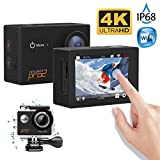 Cheap MGcool Explorer Pro2 4K Ultra HD Action Camera, 2.0 Inch Touch LCD Screen,170° Wide Angle Lens, 30m Waterproof Action Cam, Sports DVR for Diving Skiing with Accessories Kit, 100% Original(Black)