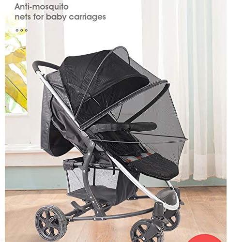 carrozzina e passeggino Zanzariera colore nero resistente e lavabile zanzariera universale per passeggino in rete fine con cerniera e bordo elastico
