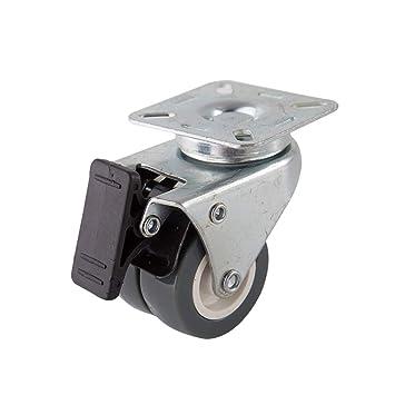 OUNONA - Ruedas giratorias de 2 pulgadas para freno de 360 grados para carritos o muebles: Amazon.es: Bricolaje y herramientas