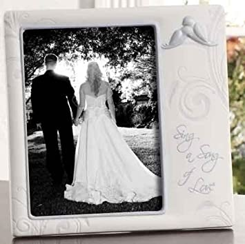 Amazon Com 8 Wedding Frame Holds 5x7 Sing A Song Of Love By Roman Baby Keepsake Frames Baby