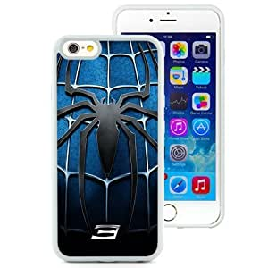 Fashionable Custom Designed iPhone 6 4.7 Inch TPU Phone Case With Spider Man 3 Blue Chest Logo_White Phone Case