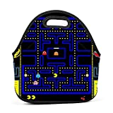 deborah saddsdr R-PAC MAN Game Insulated Neoprene Lunch Bag Lunch Box Print Lunch Tote Bag For School Office Picnic