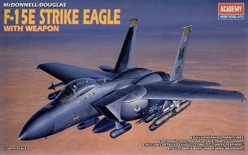 Academy 02117 1:48 F-15e Strike Eagle F15 Plastic Kit (F15 E Strike Eagle)