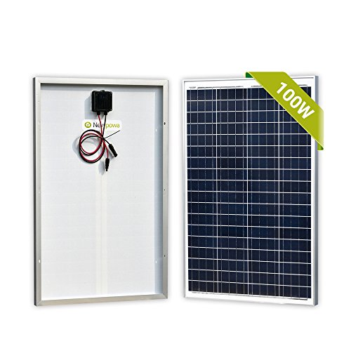 Newpowa 100 Watts 12 Volts Polycrystalline Solar Panel 100W 12V High Efficiency Module Rv Marine Boat