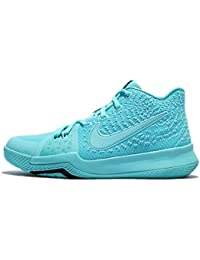 Boys Kyrie 3 Colorblock Mids Basketball Shoes