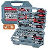 Hi-Spec Car Tool Kit, DT30016M, Auto Mechanics 3/8', 4-19mm Metric Sockets Set, T-Bar, Extension Bar, 67 Pieces Metric Hand Tools & Screw Bits in Storage Case