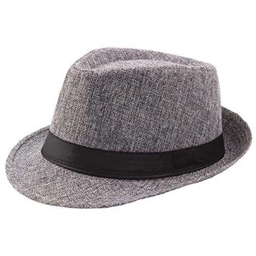 (BABEYOND 1920s Panama Fedora Hat Cap for Men Gatsby Hat for Men 1920s Mens Gatsby Costume Accessories)
