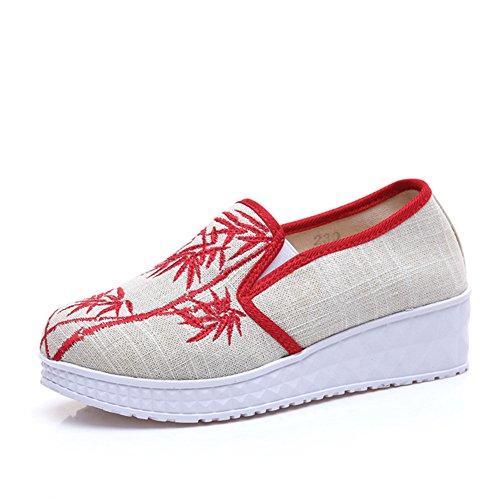 因子対九中国の刺繍靴中国のスタイル刺繍のキャンバスシューズダンスシューズ