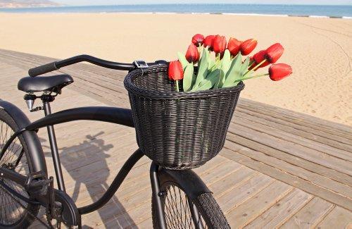 Colorbasket 01327 Adult Front Handlebar Bike Basket, Black