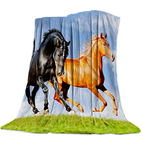 Prairie Guest Chair - Anzona Lightweight Flannel Fleece Bed Blankets 59'' x 78'' Soft Luxury Throw Blankets Maxima Gallop Through Prairie Travel Camping Blankets for Girls/Kids/Boys/Couch
