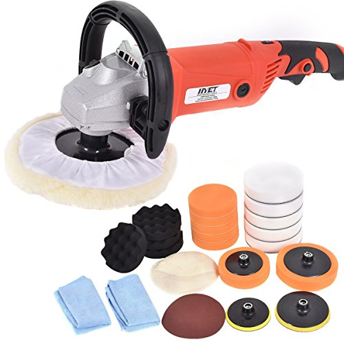 7'' Car Polisher 6 Variable Speed Buffer Waxer Sander Detail Boat w/Accessories - By Choice Products by By Choice Products