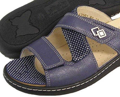 Fidelio Kvinna Hallux Fabia Liktorn Lättnad Glid Sandal 43552 (blå)