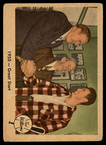Baseball MLB 1959 Fleer Ted Williams #39 1950 - Great Start VG Very Good Red Sox