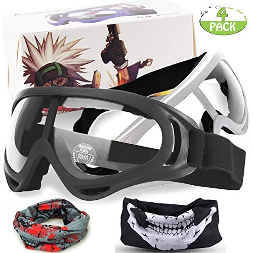 EXSPORT 2-Pack Foam Gun Accessories Adjustable Mask for Nerf