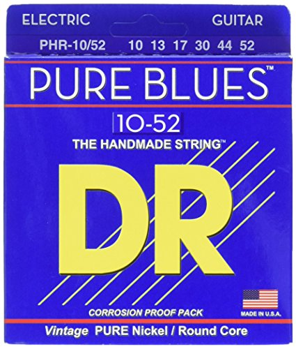 Pure Wrap Guitar Electric Nickel - DR Strings PHR-10/52 Pure Blues Electric Guitar 10/52