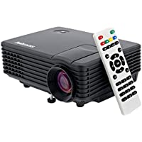 Sourcingbay TYY-R805d Lumens Mini LED Had Projector, Portable Home Theater, Black