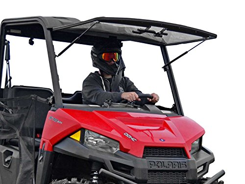 - SuperATV Heavy Duty Scratch Resistant 3-in-1 Flip Windshield for Polaris Ranger MIDSIZE 500/570 / 570 Crew/ETX/EV (2015+) - Has 3 Different Settings!