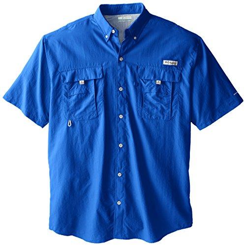 Columbia Men's Bahama II Short Sleeve Shirt, Vivid Blue, 3X Tall