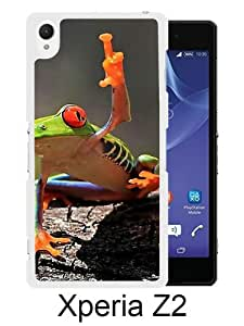 Sony Xperia Z2 case,Unique Design Tree Frog White cell phone case for Sony Xperia Z2