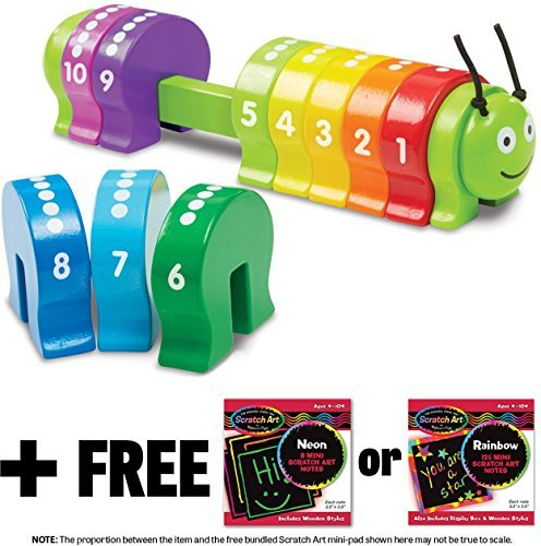 - Counting Caterpillar Toy + FREE Melissa & Doug Scratch Art Mini-Pad Bundle [92746]