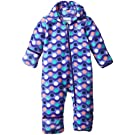 Columbia Baby-Girl Newborn Snowtop II Bunting, Purple Lotus/Wavy Dot Print, 3/6