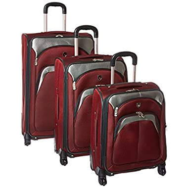 Lexington Collection- 3 Piece Luggage Set with 360? 4-Wheel System in Maroon