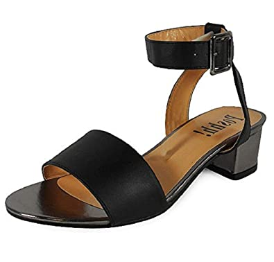 a9e9c71177d7 Loud Look New Womens Ladies Ankle Strap Low Block Heel Shoes Chunky Buckle Sandals  Size 3 Black  Amazon.co.uk  Shoes   Bags