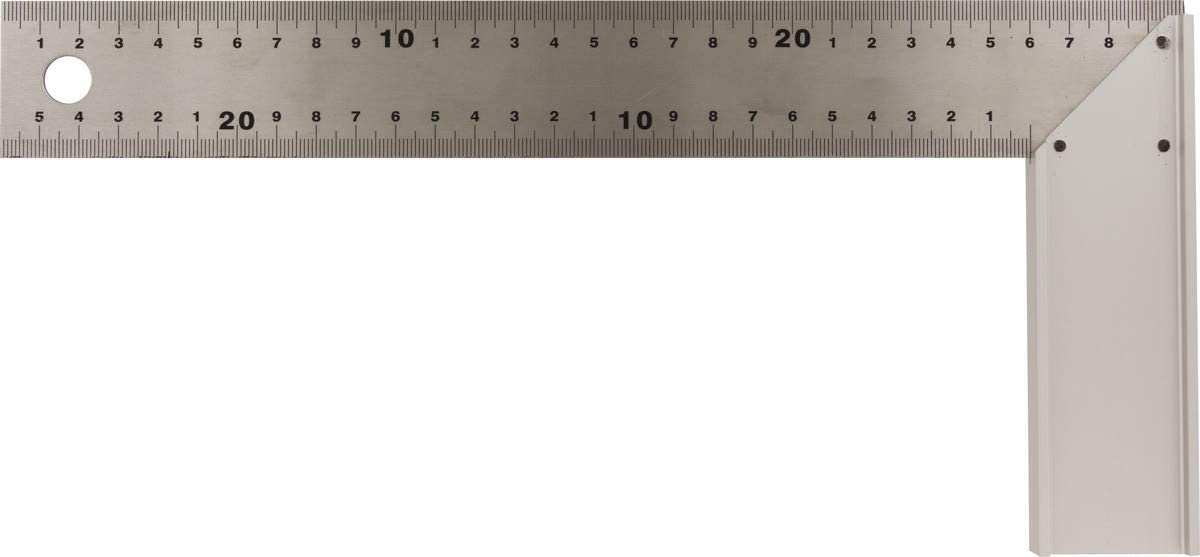 ÉQUERRE DE MENUISIER 300MM Talon d'onglet aluminium