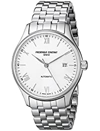 Frederique Constant Men's FC303WN5B6B Index Analog Display Swiss Automatic Silver Watch