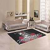 Happy More Custom Holy Death Day Of The Dead Area Rug Indoor/Outdoor Decorative Floor Rug