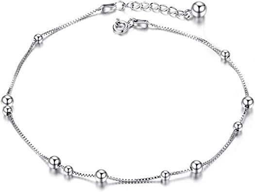 SatelLite Ball Chain Sterling Silver Black Diamond Finish By Foot