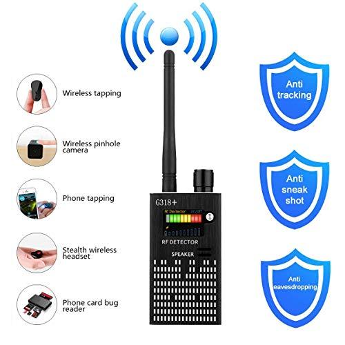 (Anti Spy Wireless RF Signal Detector, Bug Detector, Upgraded Hidden Camera Detector, KORKUAN GSM Eavesdropping Device for Wireless Audio Bug, GPS Rader Radio Scanner)