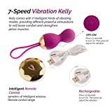 Kegel Balls for Beginners by Fox Kelly Pink Medical Grade Silicone Waterproof Sex Toy - vibrate Your Way to a Happy Life.