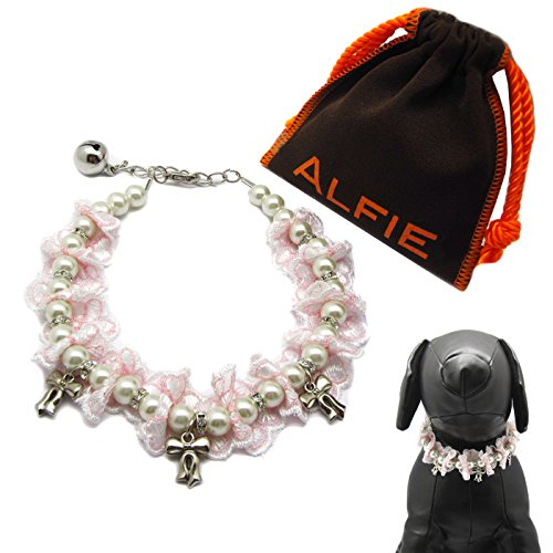 Alfie Pet by Petoga Couture - Evana Ruffle Lace Pearl Necklace for Dogs