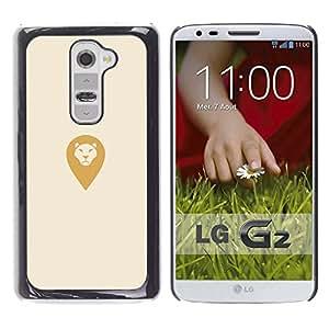 YOYOYO Smartphone Protección Defender Duro Negro Funda Imagen Diseño Carcasa Tapa Case Skin Cover Para LG G2 D800 D802 D802TA D803 VS980 LS980 - león conjunto lugar de retorno