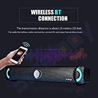 Smalody Bluetooth 4.2 Speakers Home Theater Stereo Subwoofer Soundbar LED TF