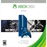 xbox 360 console limited edition - Xbox 360 500GB Special Edition Blue Console Bundle with Game Downloads of Call of Duty Ghosts and Call of Duty Black Ops 2