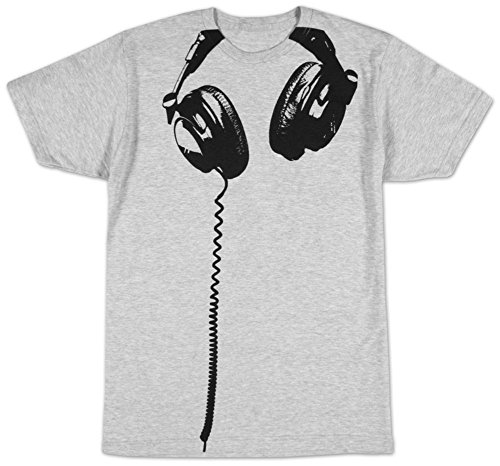 Impact Headphones Big Print Subway Fitted Jersey Tshirt (X-Large, Heather)