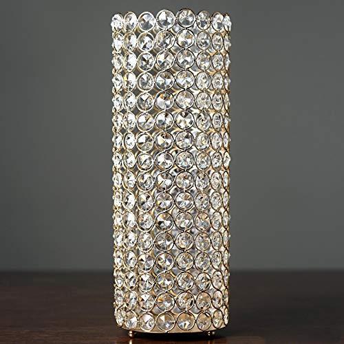 "Efavormart 16"" Tall Gold Exquisite Wedding Votive Tealight Crystal Candle Holder"