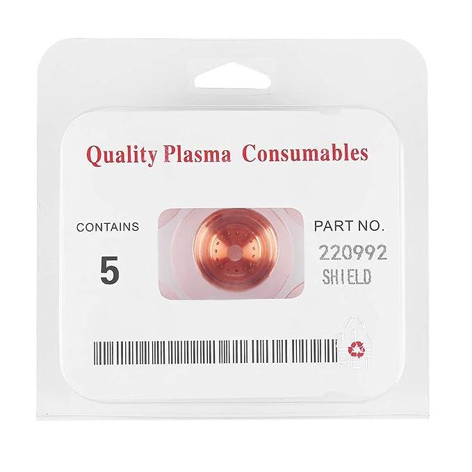 5pcs 220992 Plasma Shield Cap Kit de corte de antorcha para MAX65 / 85/105: Amazon.es: Bricolaje y herramientas