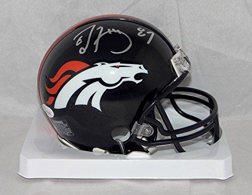 Ed McCaffrey Autographed Denver Broncos Mini Helmet- JSA W Authenticated Silver