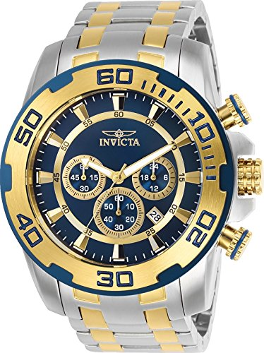 Invicta Men's 26296 Pro Diver Quartz Chronograph Blue Dial (Diver Quartz Blue Dial)