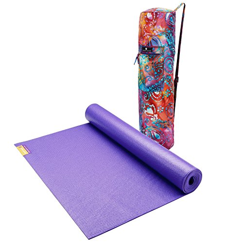 Hugger Mugger Yoga Mat Set with Bag Starter Kit, Purple, 68