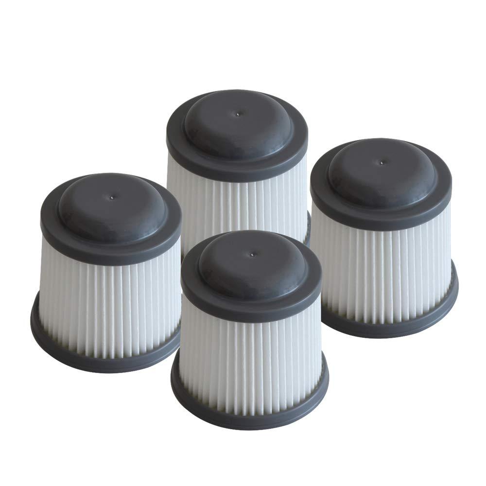 Fluar 4pcs Filter fits for Black & Decker PVF110 PHV1210 PHV1810 Vacuum, Replacement Part# 90552433, 90552433-01