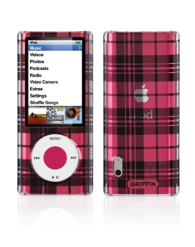 Griffin iClear Sketch Polycarbonate Case for iPod nano 5G (Plaid Black)