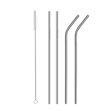 Amazon.com: 8 pajitas de metal reutilizables, pajitas de ...