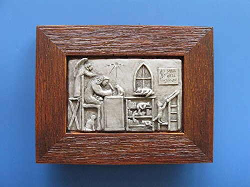 """Julian of Norwich, Patron of Cats: """"All Shall Be Well,'' Handmade Framed Tableau by In the Company of Saints"""