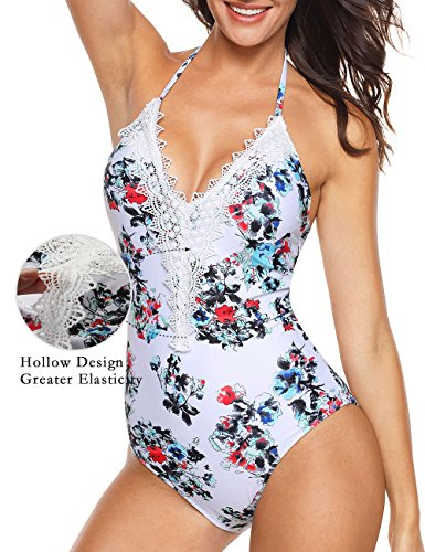 Aixy Plus Size Bathing Suits high Cut one Piece Swimsuit,Multicoloured,(US 12-14) ()