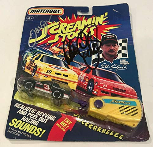 1991 Matchbox Dale Earnhardt Sr & Dale Jr Dual Signed for sale  Delivered anywhere in Canada