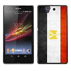 Shell-Star ( National Flag Series-Egypt ) Snap On Hard Protective Case For SONY Xperia Z / L36H / C6602 / C6603 / C6606
